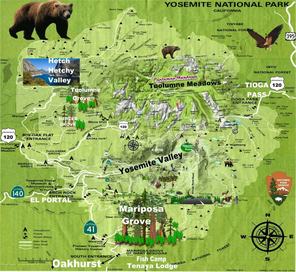 Map of Yosemite National Park Maps