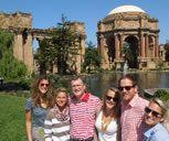 Travel to the Palace of Fine Arts in the Marina District