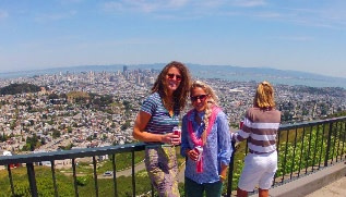 Twin Peaks views of San Francisco Sightseeing Attraction