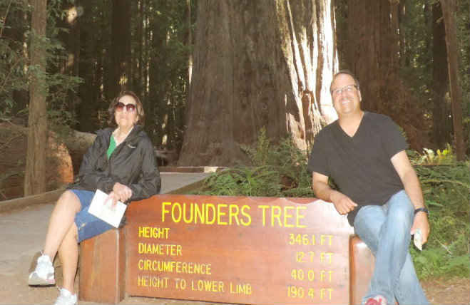 The Founder's Grove in Avenue of the Giants